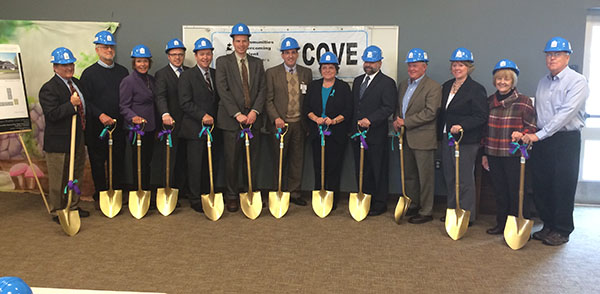 COVE breaks ground; fundraising at 90% goal