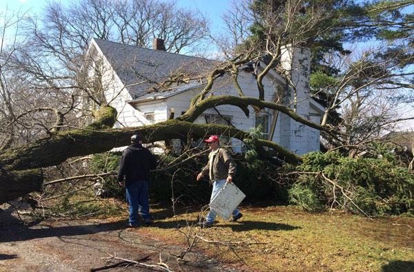 Spring storm wreaks havoc in Oceana County
