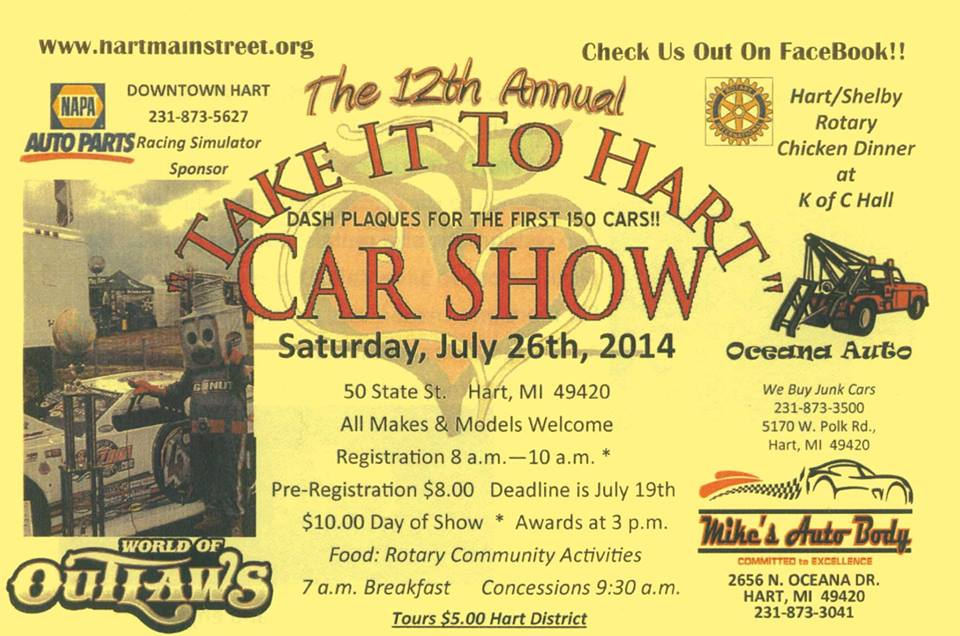 Take it to Hart Car Show Saturday