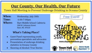 Underage drinking focus of town hall meeting