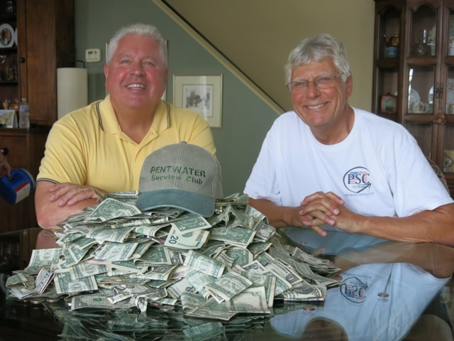 Pentwater Service Club collects nearly $3,000 for fireworks