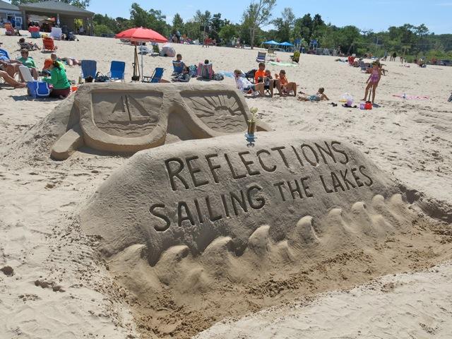 Sand sculpture contest draws large crowd