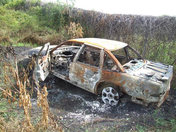 Burned car may be stolen