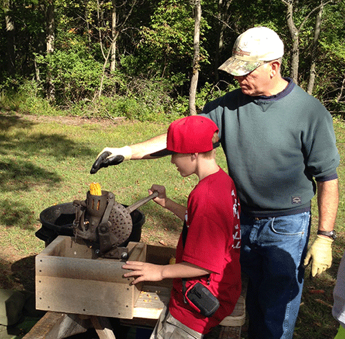 Students take a step back in time at old engine club education day.