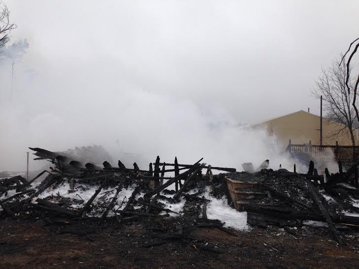 Century-old farmhouse burns to the ground