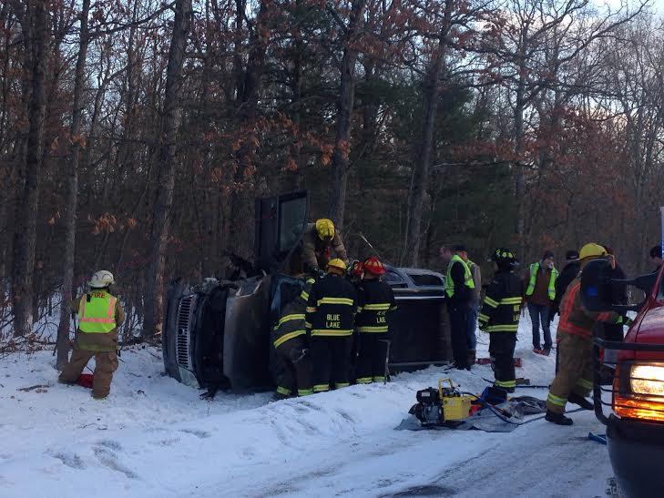 1 injured in rollover crash