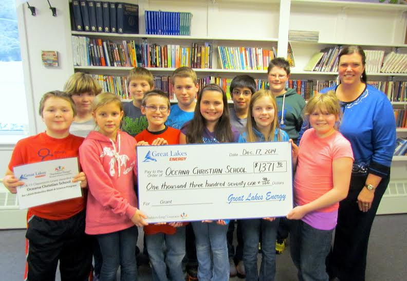 OCS receives $1,371 grant from Great Lakes Energy