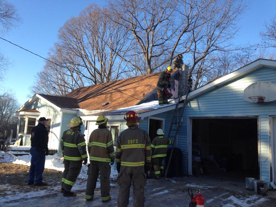 Quick action saves home from chimney fire