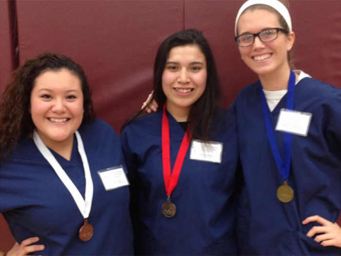 Allied health students compete at regional.