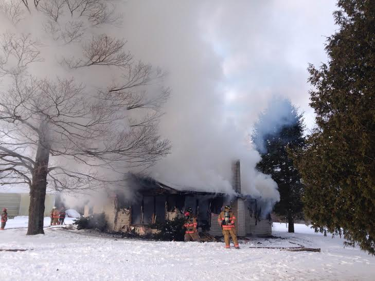 4 departments battle blaze; no injuries reported