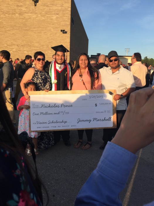 $1 million scholarship story not true, teacher says; recipient says he may have been scammed.