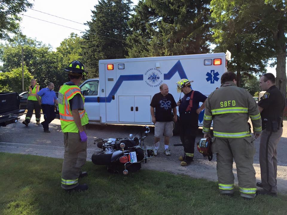 2 Injured In Pickup Truck Vs Motorcycle Crash